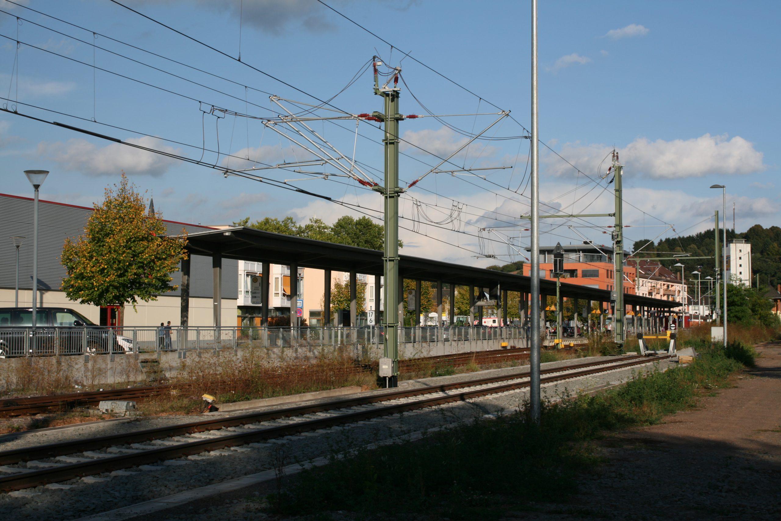 Abstellgleis der Saarbahn in Lebach